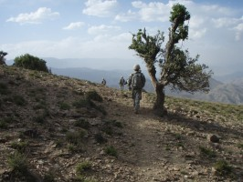 Bryan Box photographed these soldiers on a ridge near Tana Kalay, Afghanistan, while walking back to their patrol base. (Photo courtesy of Bryan Box)